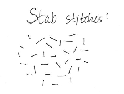 Stab stitches